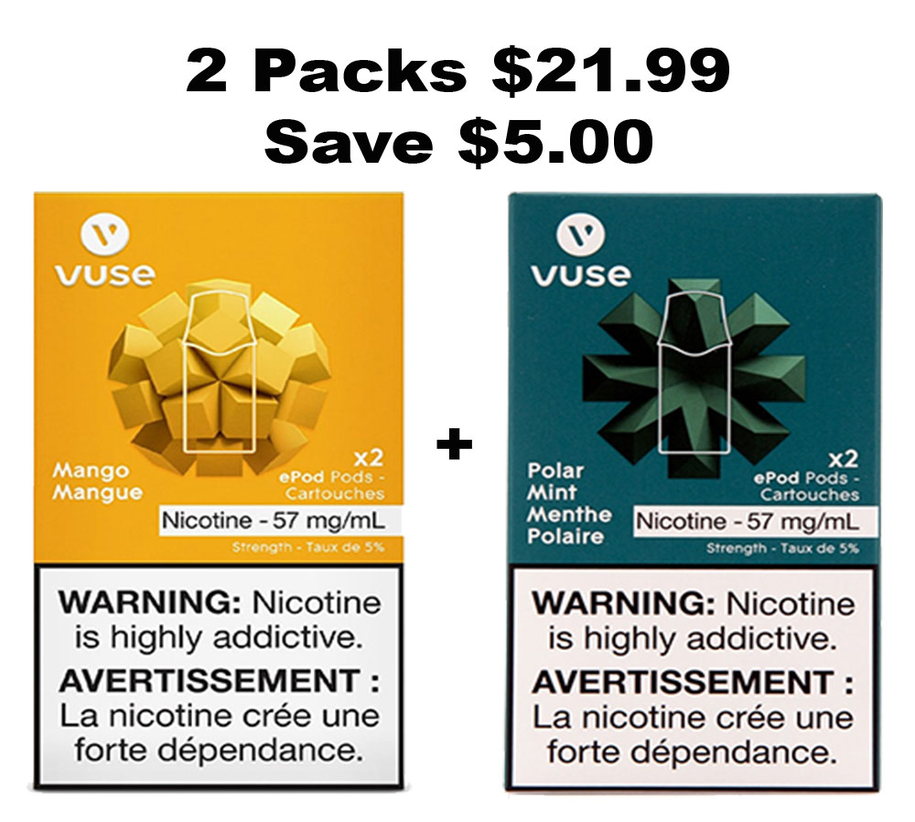 Vuse (Vype) ePod Pack Pods (2 Packs for $21) | E-Cigz