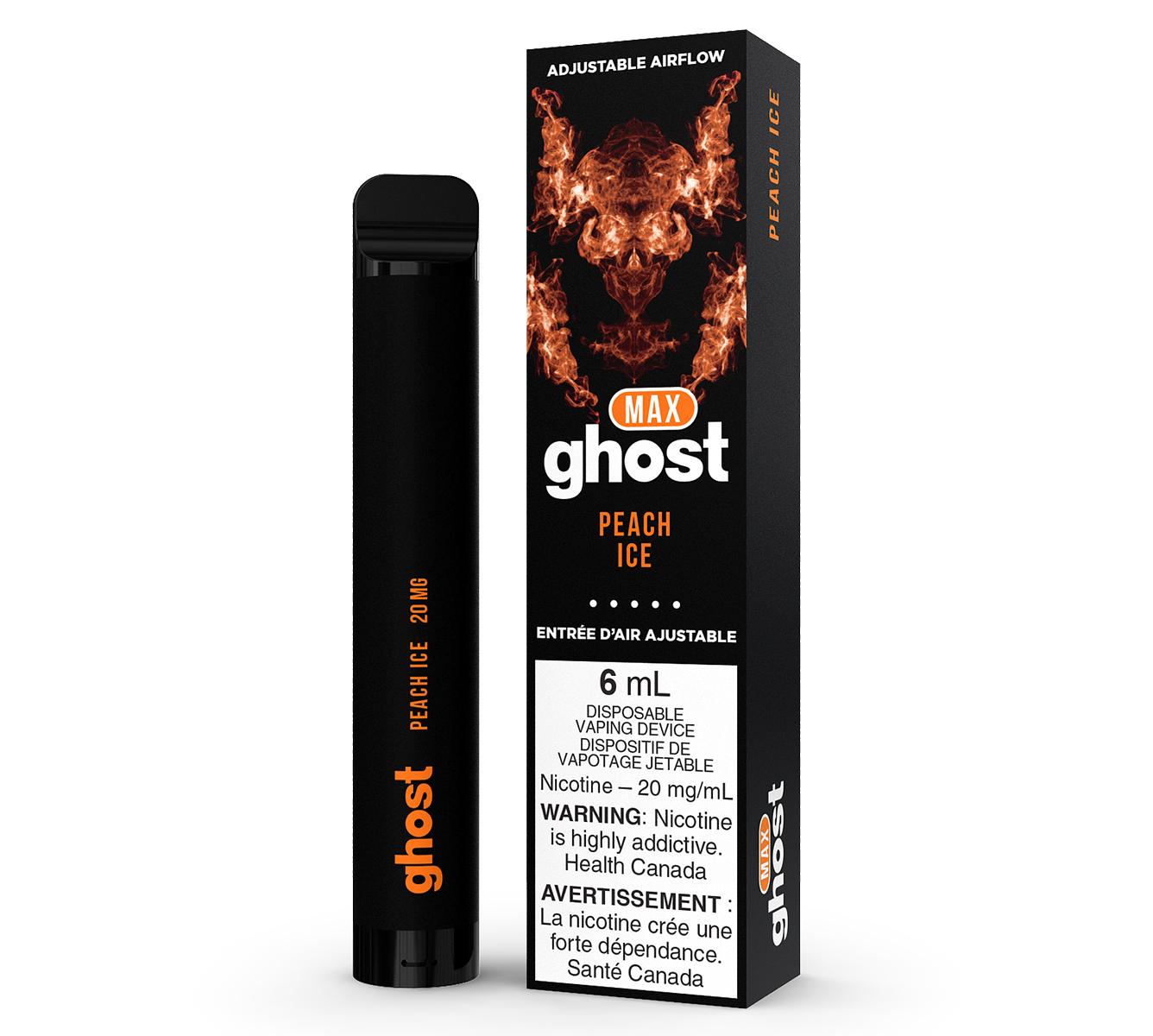 Ghost Max Peach Ice - Disposable Vape 6ml | E-Cigz