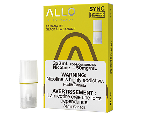 ALLO Sync Pod Pack - Banana Ice   E-Cigz