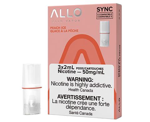 ALLO Sync Pod Pack - Peach Ice   E-Cigz