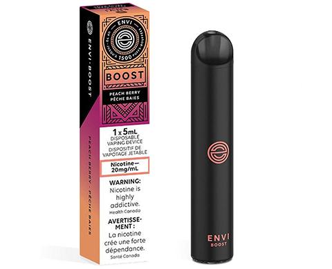 Envi Boost Peach Berry - Disposable Device 5ml   E-Cigz